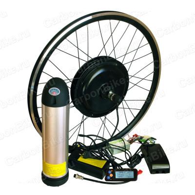 Мотор-колесо тяговое 500Вт переднее с аккумулятором 48В 10Ач бутылка